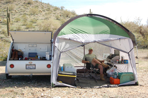 Little Guy Mypod >> 10x10 Side Mount Screen Room Tent by PahaQue – TeardropShop.com