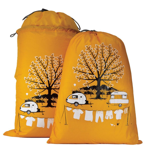 Yellow T@B Teardrop Camper Expandable Laundry Bag