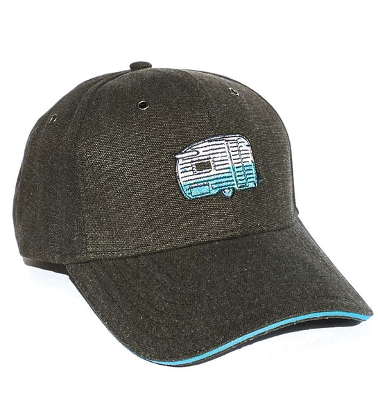 """Wings"" Retro Shasta Camper Embroidered Hat"