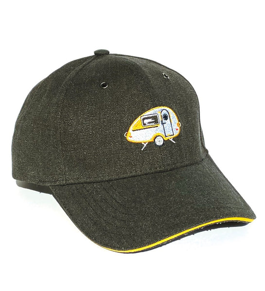 Yellow T@B Teardrop Camper Embroidered Hat
