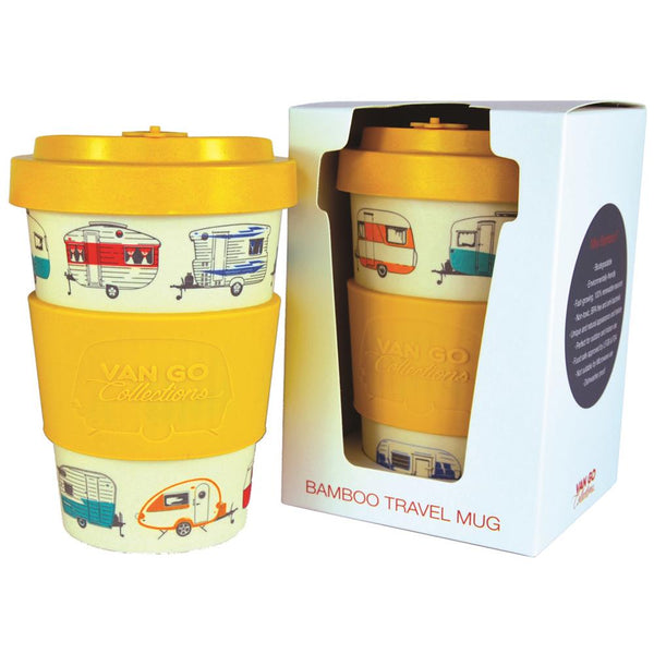 Bamboo Travel Mugs with Campers
