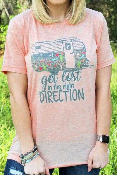 Get Lost Uni-Sex Short Sleeve Tee