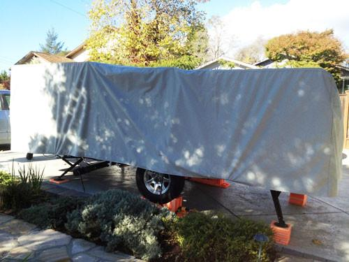Custom Folding Trailer Cover by PahaQue