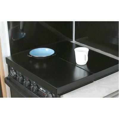 Camco RV Black Universal Fit Stove Top Cover