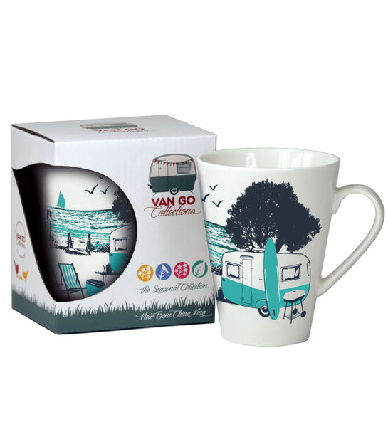 """Wings"" Retro Camper Bone China Mug"