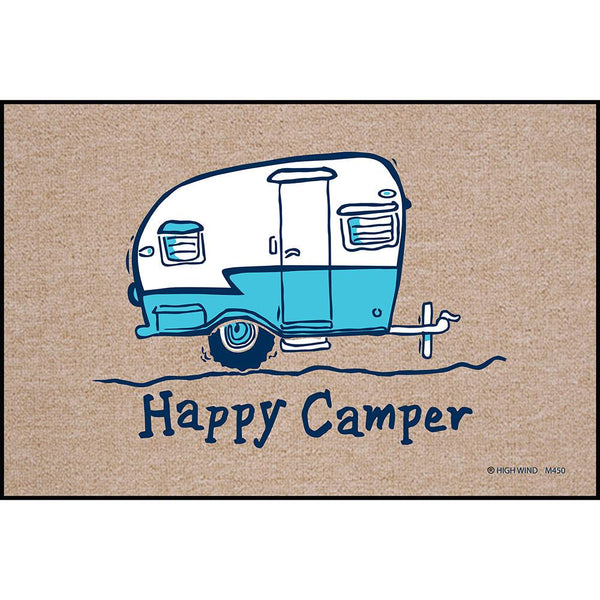 "Happy Camper 18"" x 27"" Doormat"