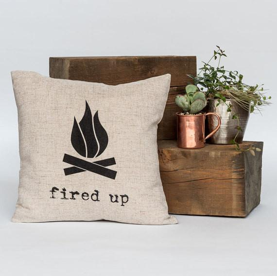"Fired Up 18"" x 18"" Throw Pillow"