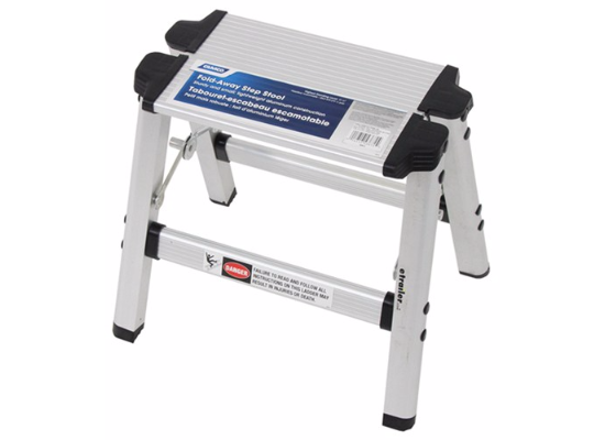 "Camco Folding Step Stool - Aluminum - 11-1/2"" Tall"