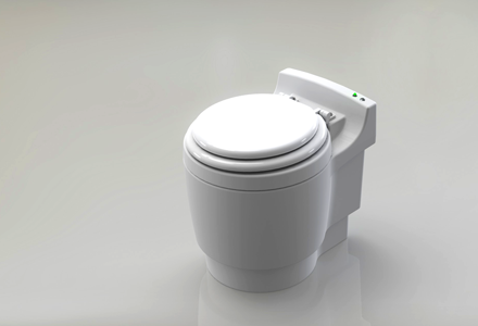 Laveo Self-Contained Toilet by Dry Flush