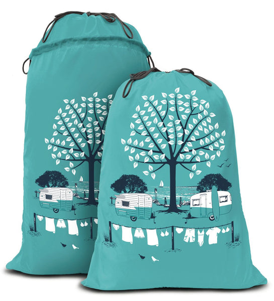 """Wings"" Retro Camper Expandable Laundry Bag"