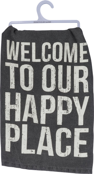 Our Happy Place Dishtowel