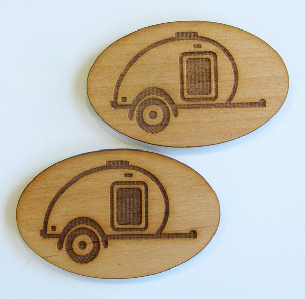 Teardrop Oval Alder Magnets