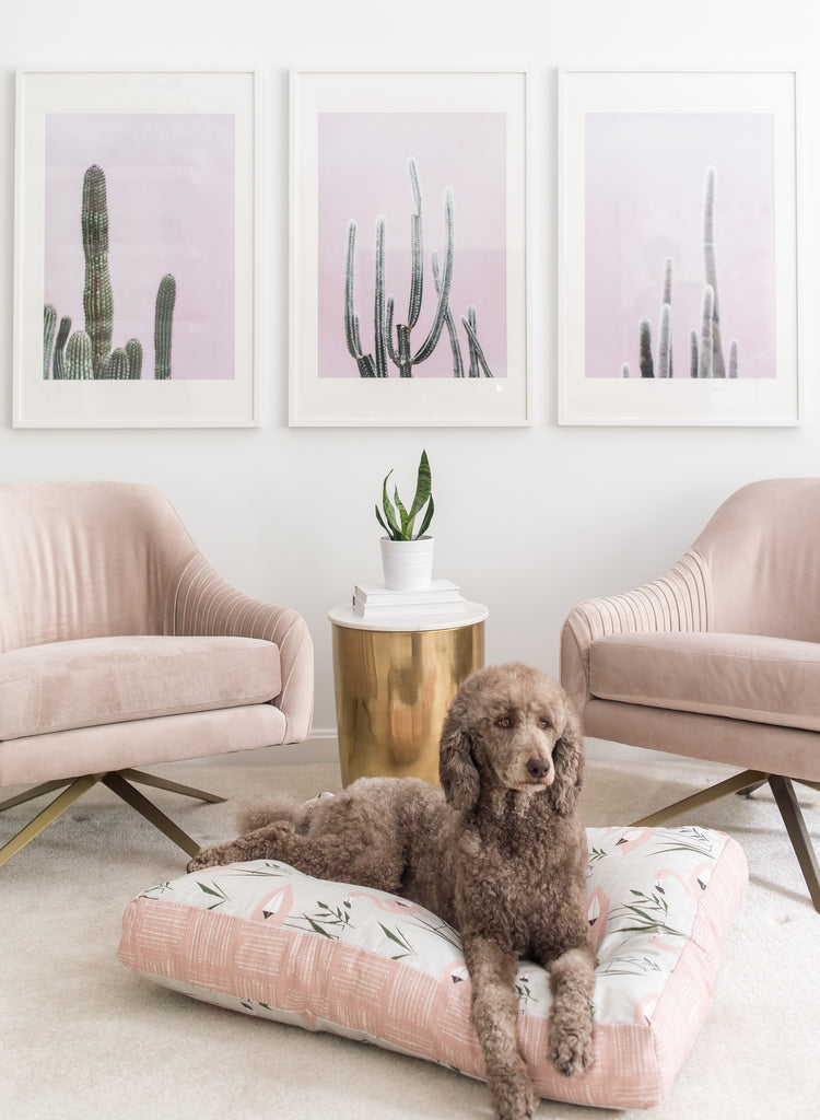 Flamingo Pet Beds by Janery | Waterproof, Washable Dog Beds and Cat Beds ethically manufactured in the USA