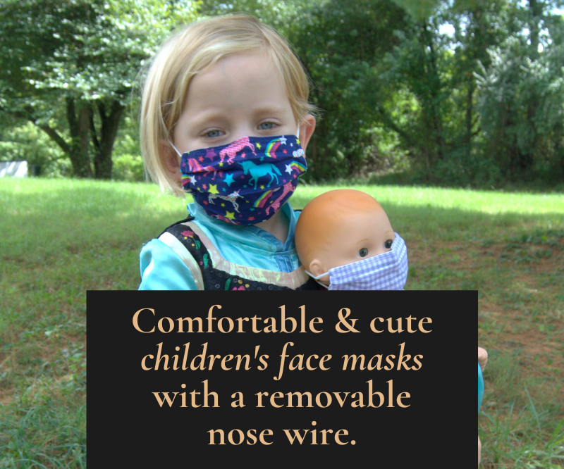Comfortable and cute face masks for children