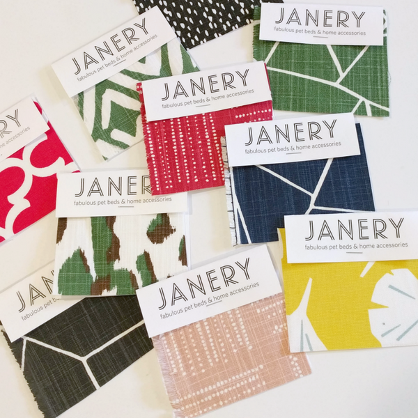 Janery Pet Beds Free Fabric Swatches