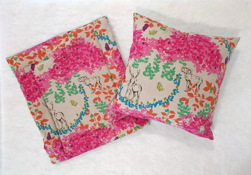 Janery Happy Ever After Collection Woodland Pillow Catnip Mat Set
