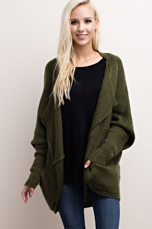 The Everly Cardigan - Olive