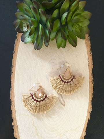 The Lizzy Earrings- Cream