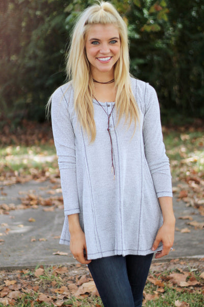 Sideline Sass Boutique The Grey Finley Top