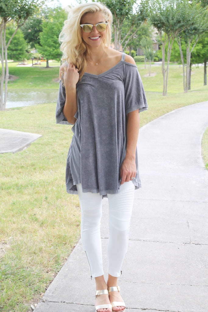 The Blakely Top- Grey