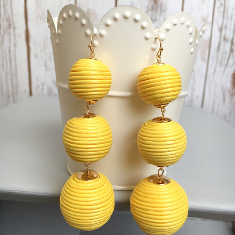 The Triad Earring- Yellow