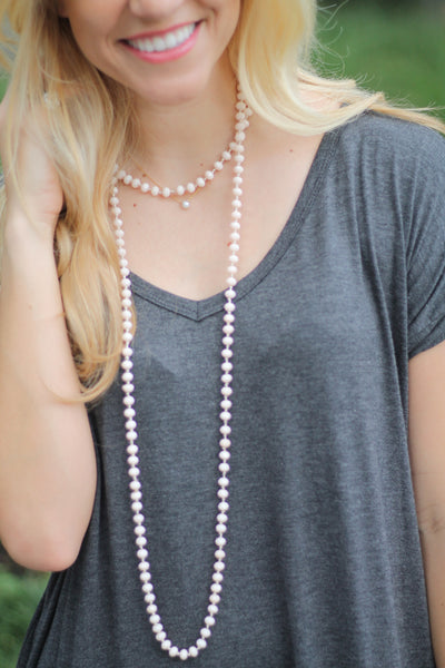 The Birdy Necklace- Cream