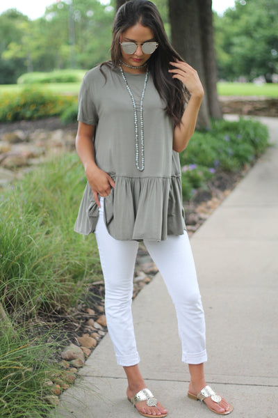 The Tori Top - Olive