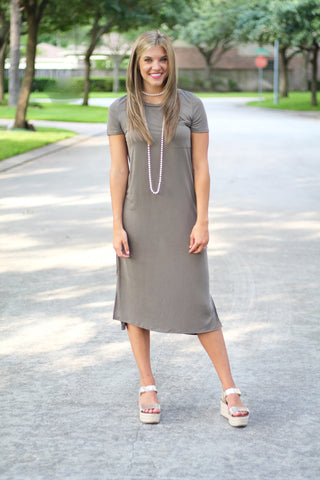 The Misty Dress- Olive