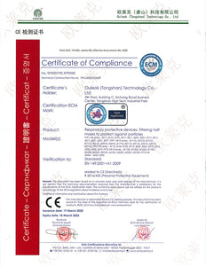 KN95 Certificate of Compliance. PPE Test Report available upon request.