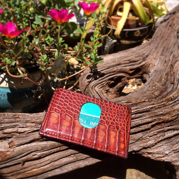 Alligator Skin Slim Wallet