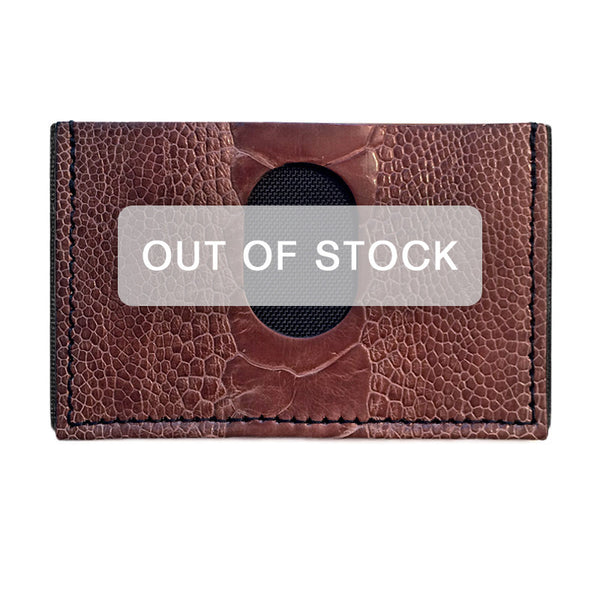 Exotic Ostrich Leg Slimplistic Wallet (Chocolate)