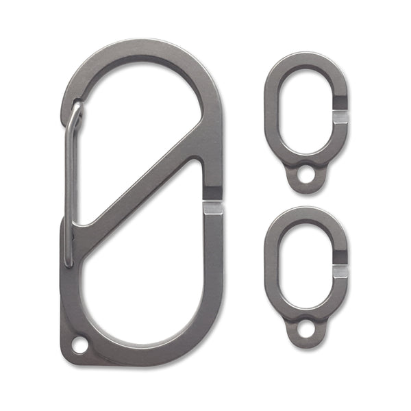 MSTR LINX (Master Links) Ti Carabiner Key Ring Set