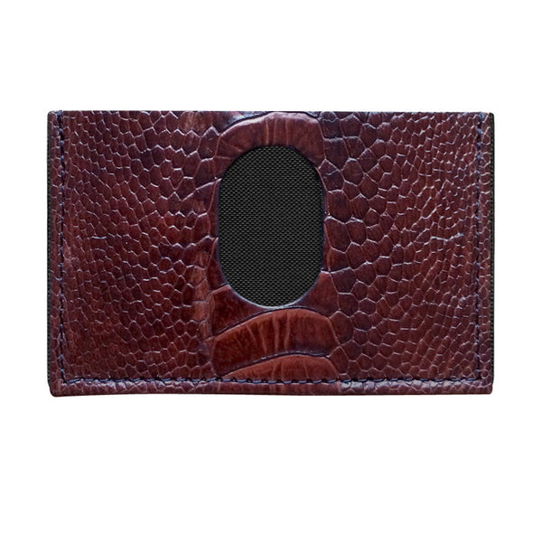 Exotic Ostrich Leg Slimplistic Wallet (Chocolate Swirl)