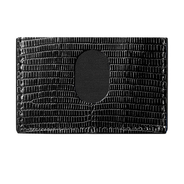 Ring Lizard Skin Slimplistic Wallet (Black)