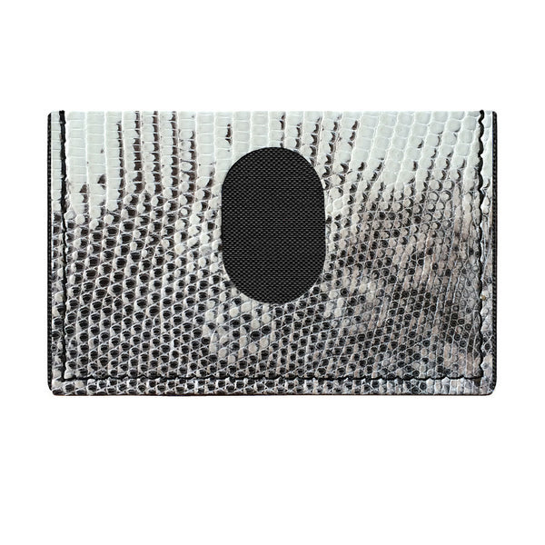 Ring Lizard Skin Slimplistic Wallet (Black & White)