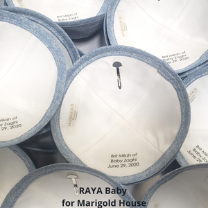 Personalized Kippahs for Brit Milah with 1 day handling. Ships next day