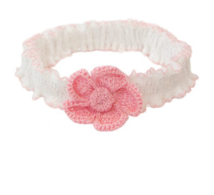 Baby Headband with Crochet Flower