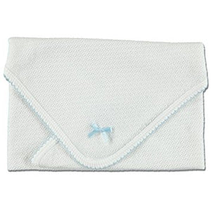 Heirloom Knit Swaddle Blanket, Blue
