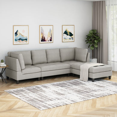 Hollin Left Hand Facing Sectional with Ottoman