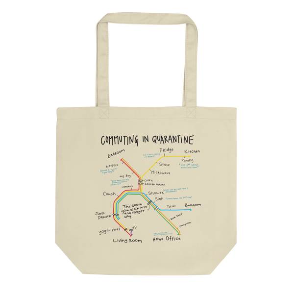 'Commuting in Quarantine' Tote