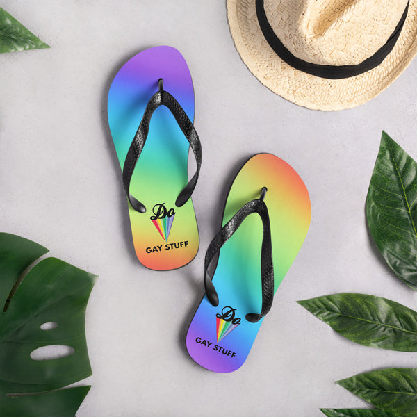 'Do Gay Stuff' Rainbow Flip-Flops