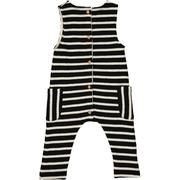 Black Stripe Jersey Playsuit