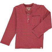 Red Stripe L/S Henley Tee