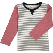 White Stripe Lightweight Sweat Top