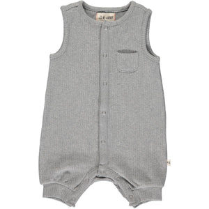 Pablo Ribbed Playsuit - Grey