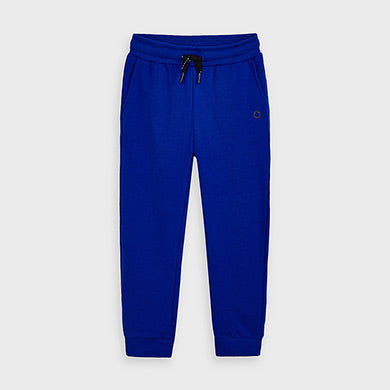 Basic Cuffed Fleece Joggers - Blue Pop