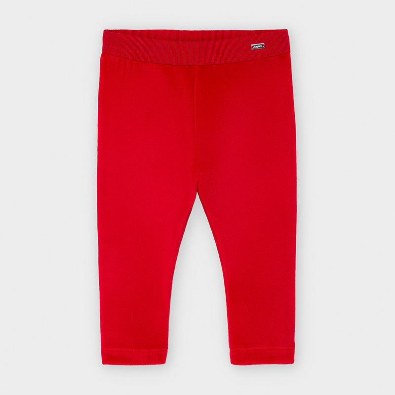 Basic Velvet Leggings - Red