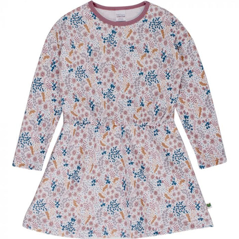 Botany Dress With Flower Print - Cream