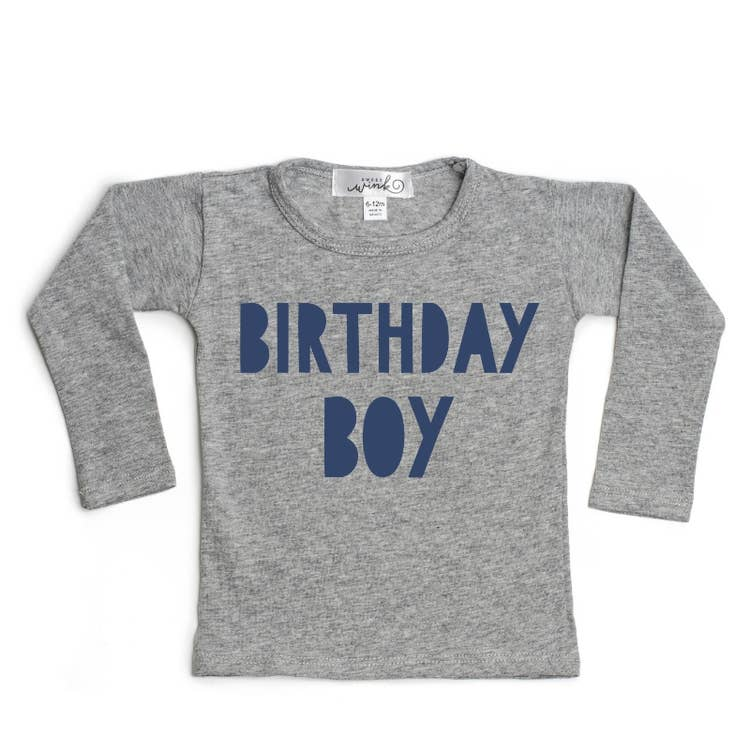 Birthday Boy L/S Shirt - Gray