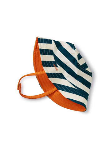 Reversible Sun Hat - Stripe Tidal